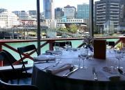 Table setting overlooking lagoon
