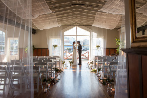 Boatshed Bride and Groom Aisle